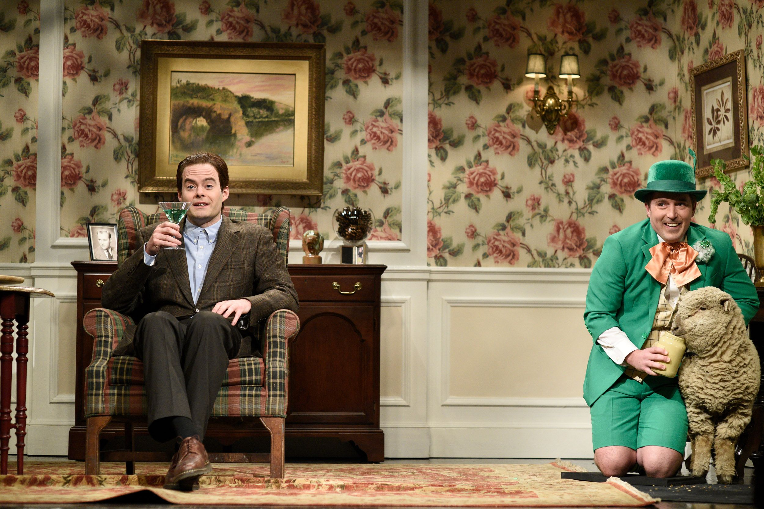 Bill Hader and Beck Bennett during a St. Patrick's Day SNL sketch on Saturday, March 17, 2018.