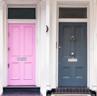 Door, Property, Pink, Home door, House, Room, Architecture, Home, Building, Material property,