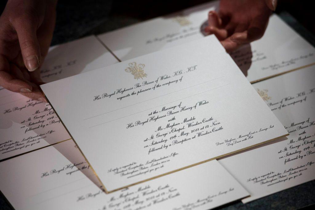 Boda Meghan y Harry As son las invitaciones de boda de Meghan