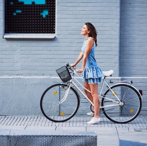 Bicycle, Bicycle wheel, Blue, Bicycle part, Photograph, Vehicle, Bicycle handlebar, Bicycle accessory, Hybrid bicycle, Bicycle frame,