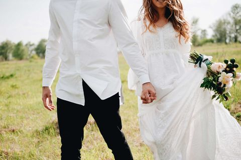 White, Photograph, Clothing, Dress, Wedding dress, Formal wear, Suit, Bridal clothing, Yellow, Shoulder,