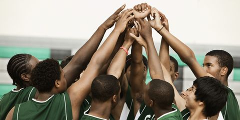 Team, Team sport, Youth, Community, Player, Basketball, Sports, Ball game, Tournament, Huddle,