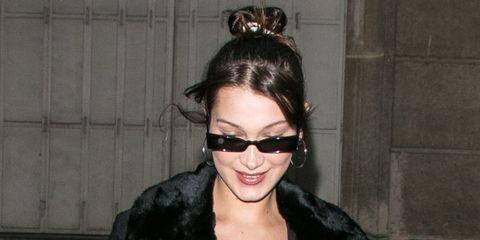 Eyewear, Leather, Clothing, Leather jacket, Jacket, Fashion, Sunglasses, Outerwear, Street fashion, Textile,