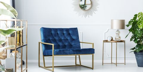 Furniture, Blue, White, Room, Product, Interior design, Chair, Property, Living room, Table,