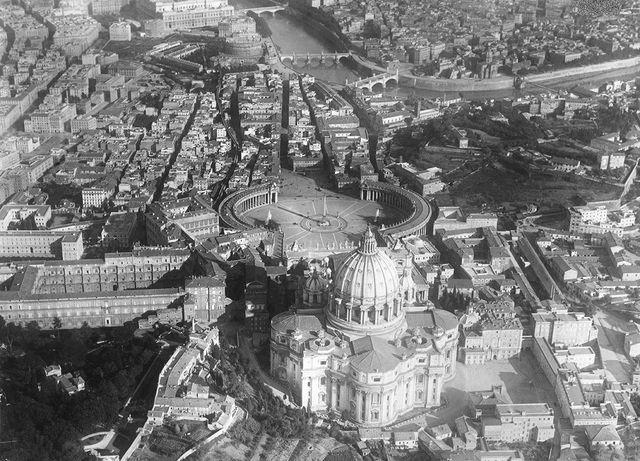 aerial view of st peter's basilica and st peter's square, rome, italy, 1aantonietta raphaël, l'artista lituana innamorata di roma920 photo by italian governmentphotoquestgetty images