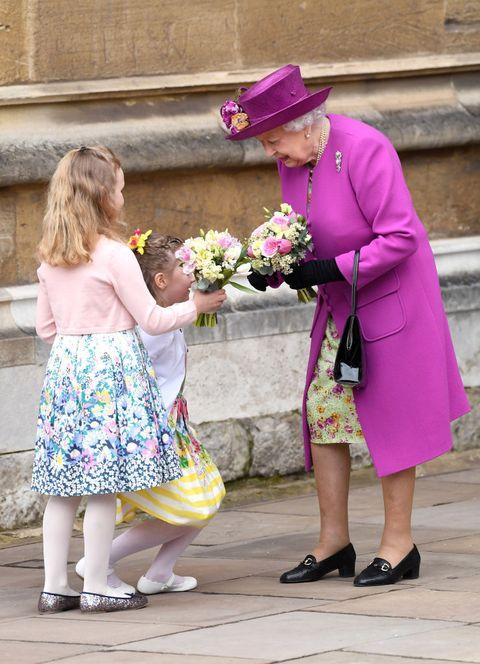 Pink, Purple, Child, Yellow, Footwear, Flower, Dress, Headgear, Plant, Vacation,