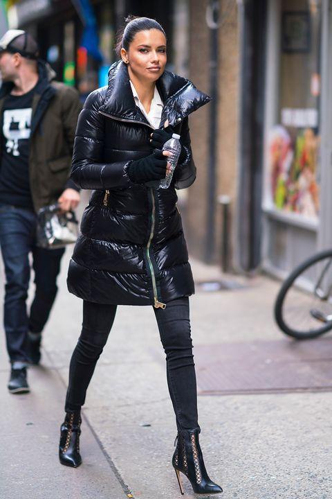 Street fashion, Clothing, Black, Fashion, Footwear, Snapshot, Beauty, Jacket, Street, Leather,