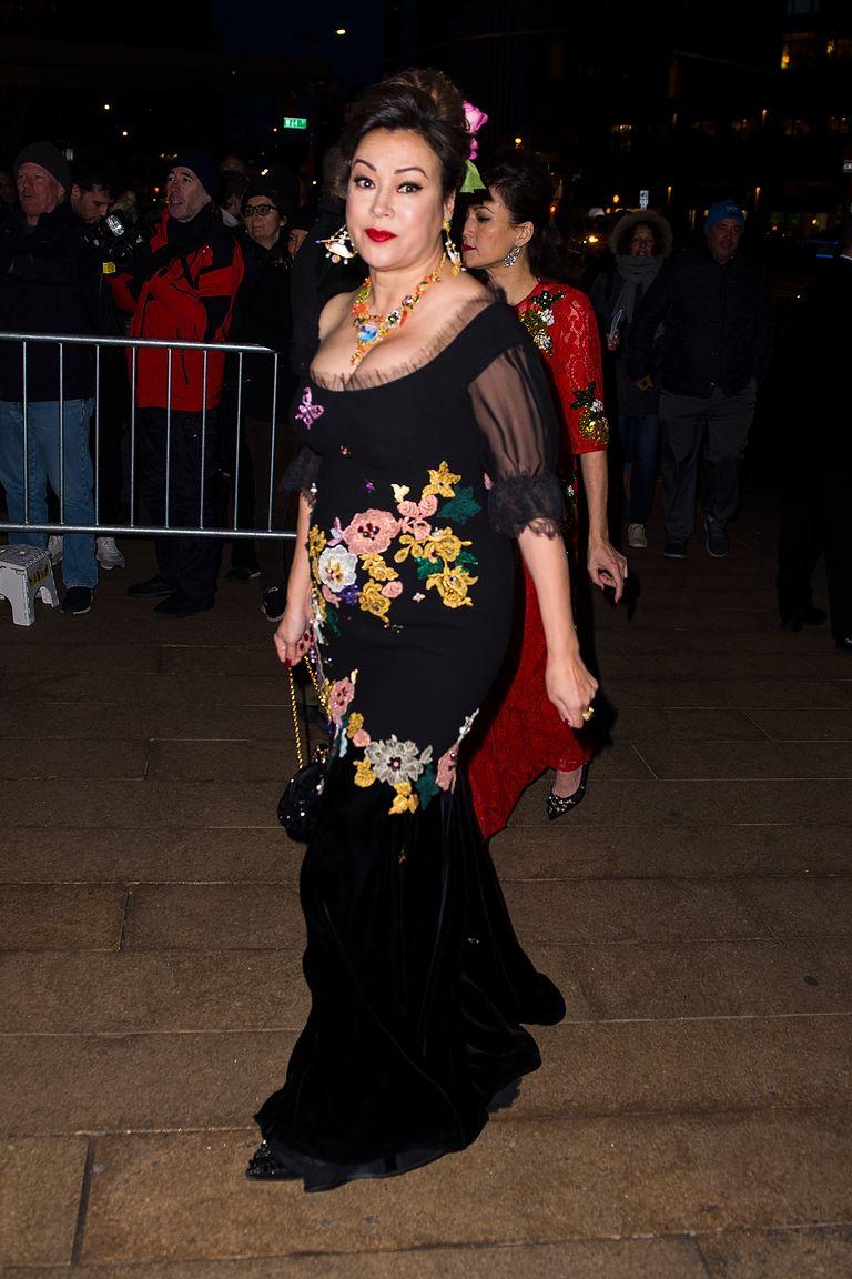 Famosas en el desfile de Alta Costura de Dolce & Gabbana en Nueva York