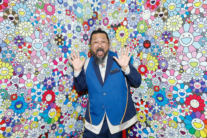Takashi Murakami Japan Pop Art white Backpack Made in USA