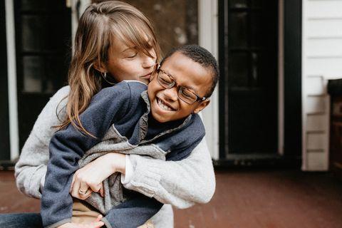 Photograph, People, Child, Cheek, Interaction, Hug, Toddler, Smile, Photography, Fun,