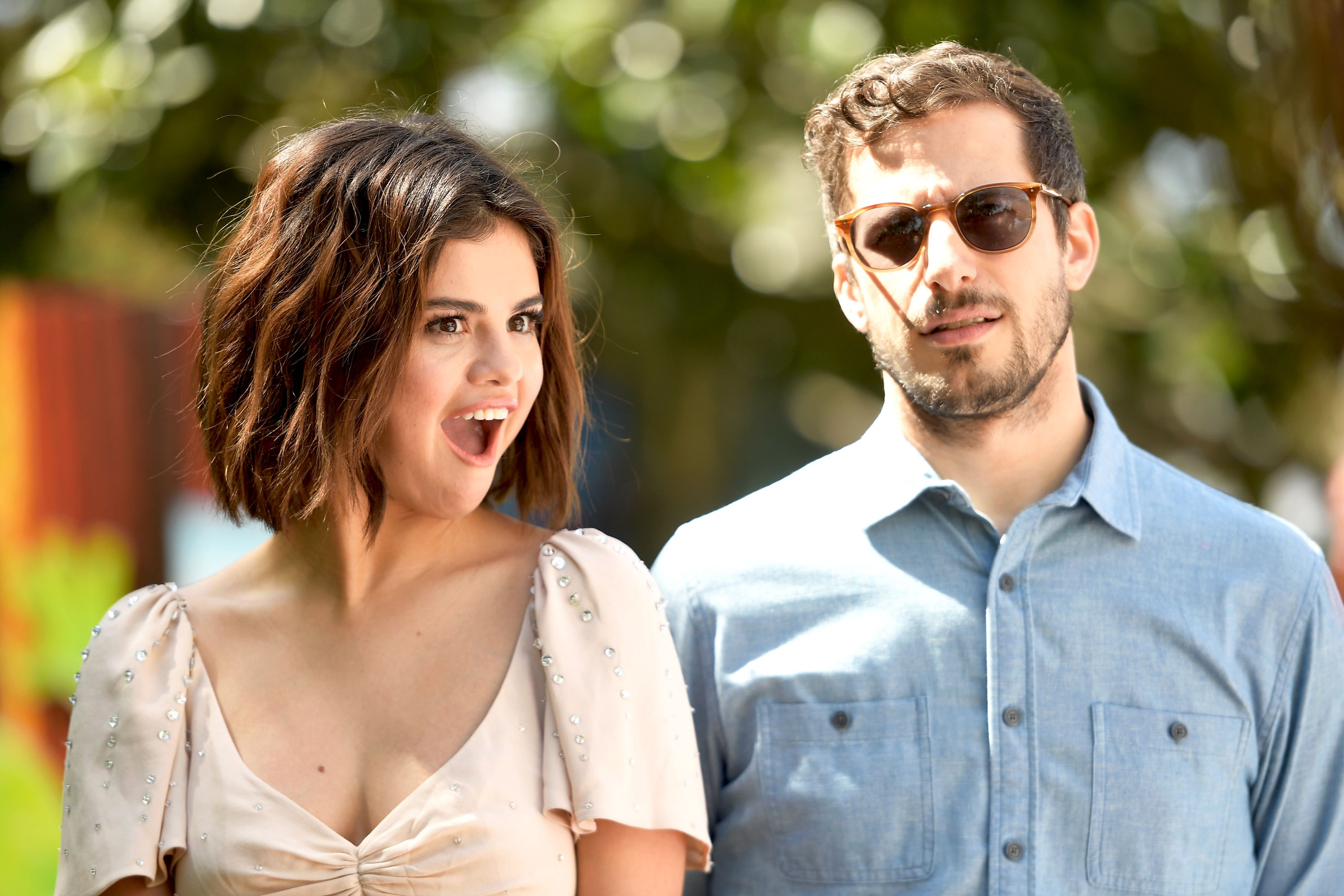 Selena Gomez with Andy Samberg.