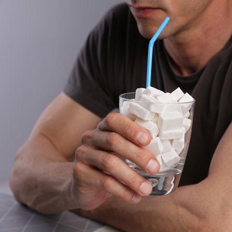 simple carbohydrates, sugar addiction, diabetes disease bad eating habits, health care concept