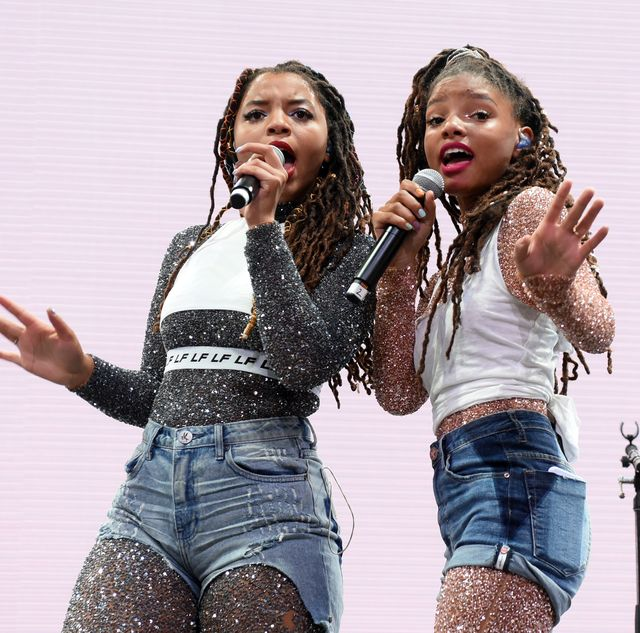 indio, ca   april 14  chloe bailey l and halle bailey of chloe x halle performs onstage during 2018 coachella valley music and arts festival weekend 1 at the empire polo field on april 14, 2018 in indio, california  photo by larry busaccagetty images for coachella