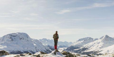 Mountainous landforms, Mountain, Snow, Mountaineering, Mountaineer, Mountain range, Ridge, Geological phenomenon, Summit, Alps,