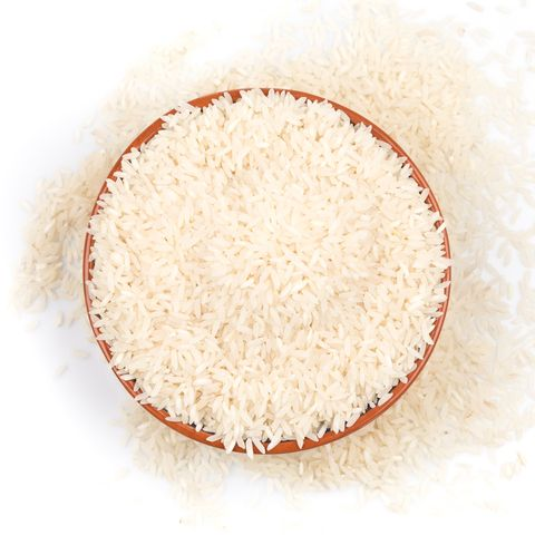 bowl of rice isolated on a white background