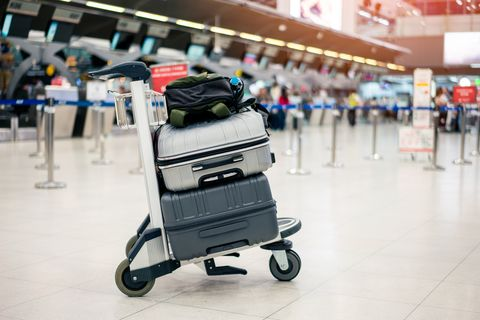 Product, Baby carriage, Floor, Baby Products, Baggage, Vehicle, Supermarket, Flooring, Retail, Luggage and bags,