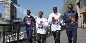 Bekele and Kipchoge London Marathon 2020
