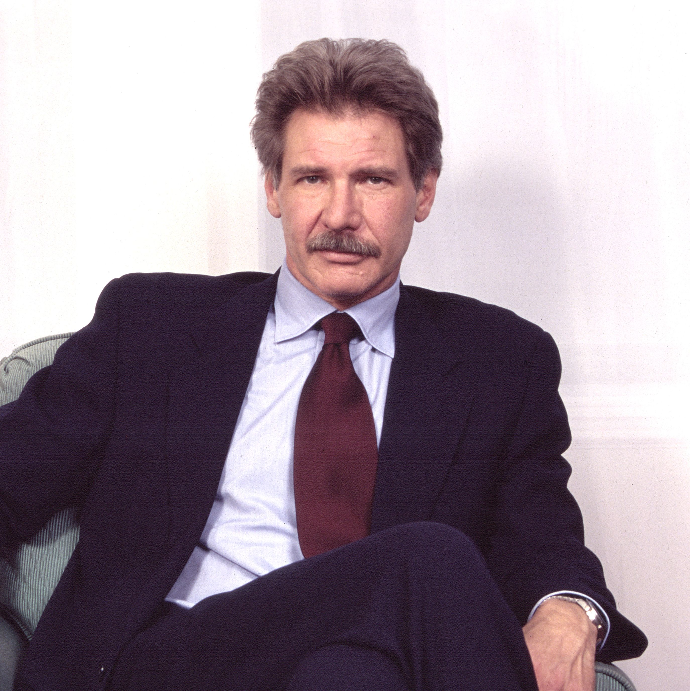 1996: Harrison Ford There was a moment in the mid-'90s where actor Harrison Ford had a mustache phase that was very well-received.