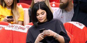 Kylie Jenner, basketball game, phone