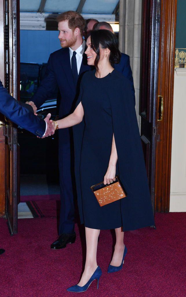 Meghan Markle Navy Dress At Queen Elizabeth S Birthday Meghan