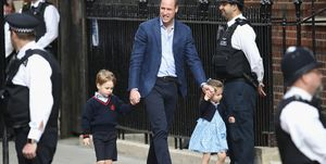 Prince George and Princess Charlotte have arrived at the hospital to meet their brother