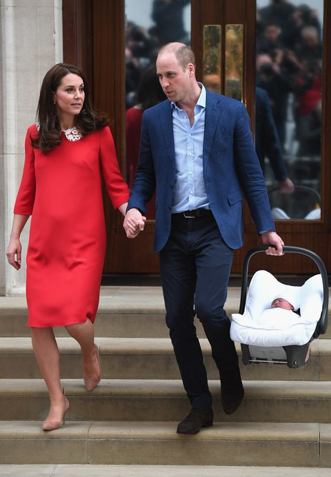 See Kate Middleton Leaving Hospital After Giving Birth To