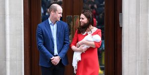 Duchess Catherine Prince William Royal Baby hospital red dress