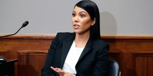 Kourtney Kardashian Congress makeup suit