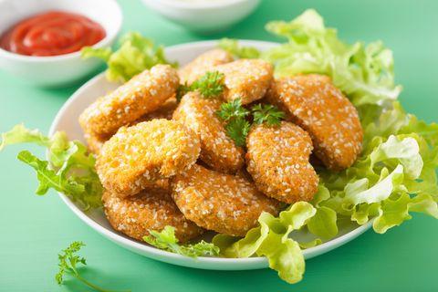 Dish, Food, Cuisine, Ingredient, Fried food, Meat, Produce, Lemon chicken, Karaage, Chicken nugget,