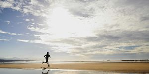 deporte, verano, detectar, golpe, calor, correr