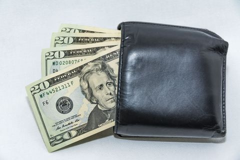 Wallet, Cash, Money, Currency, Dollar, Fashion accessory, Coin purse,