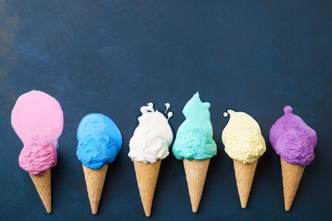 Cone, Dessert, Frozen dessert, Sweetness, Ice cream, Sorbetes, Ice cream cone, Dondurma, Dairy, Ingredient,