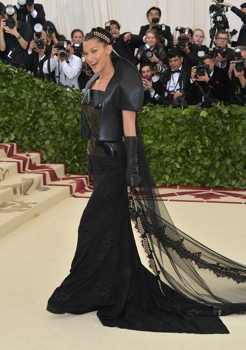 Bella Hadid Is Vampy in a Black Gown at the 2018 Met Gala