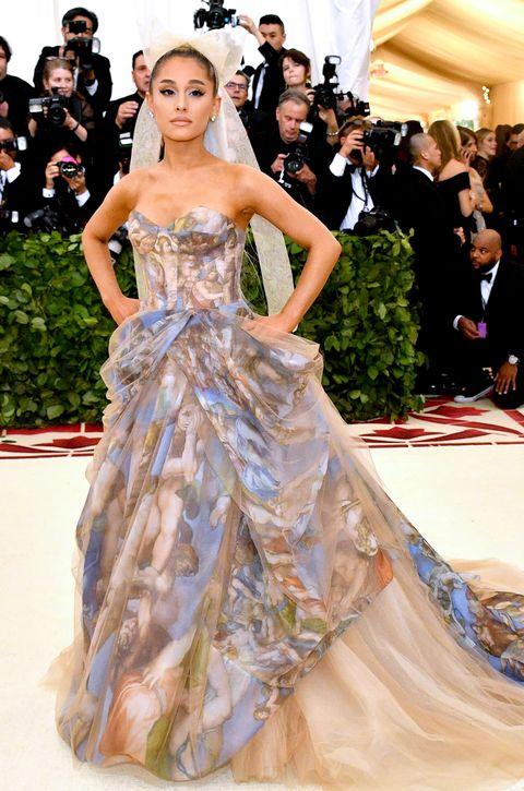 Ariana Grande Sistine Chapel Vera Wang at Met Gala 2018 - Ariana Grande  First Red Carpet Since Manchester Bombing