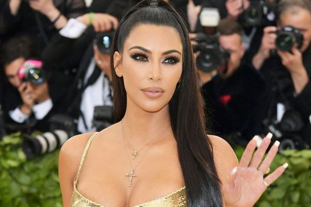 new york, ny   may 07  kim kardashian attends the heavenly bodies fashion  the catholic imagination costume institute gala at the metropolitan museum of art on may 7, 2018 in new york city  photo by neilson barnardgetty images