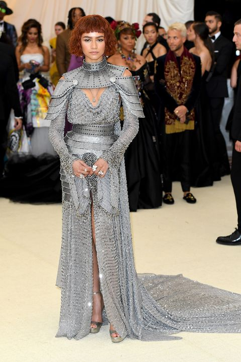 Zendaya Legit Wore A Suit Of Armor On The Met Gala Red Carpet