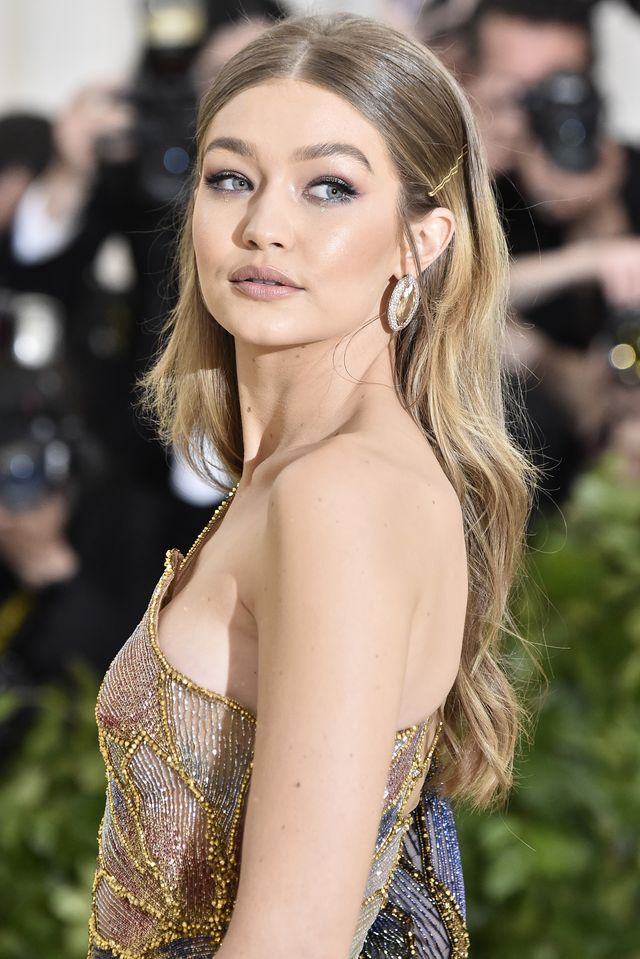 new york, ny   may 07  gigi hadid attends the heavenly bodies fashion  the catholic imagination costume institute gala at the metropolitan museum of art on may 7, 2018 in new york city  photo by frazer harrisonfilmmagic