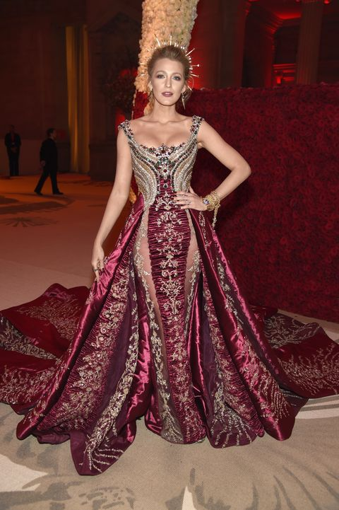 Blake Lively just wore head to toe tartan for Rihanna\'s Met Gala ...