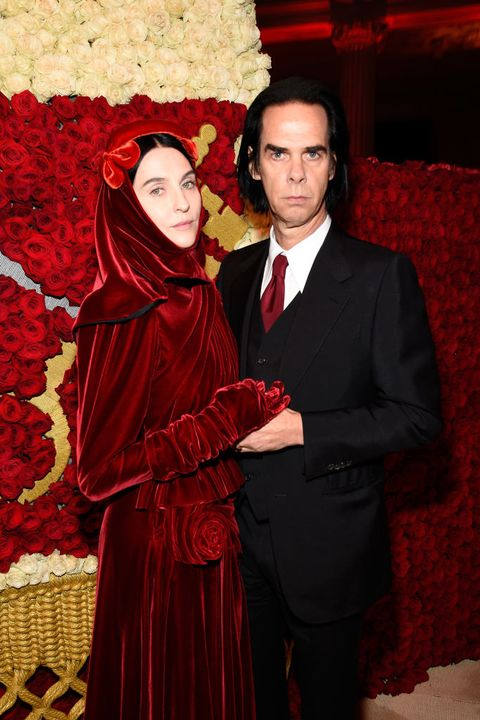 new york, ny   may 07 susie cave and nick cave attend the heavenly bodies fashion  the catholic imagination costume institute gala at the metropolitan museum of art on may 7, 2018 in new york city  photo by kevin mazurmg18getty images for the met museumvogue