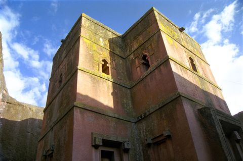 "Bet Giorgis or ""House of St. George"" in Lalibela, Lalibela, Ethiopia"