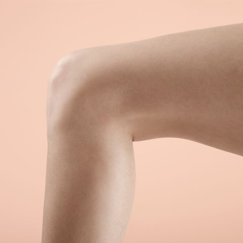 Womans leg and knee