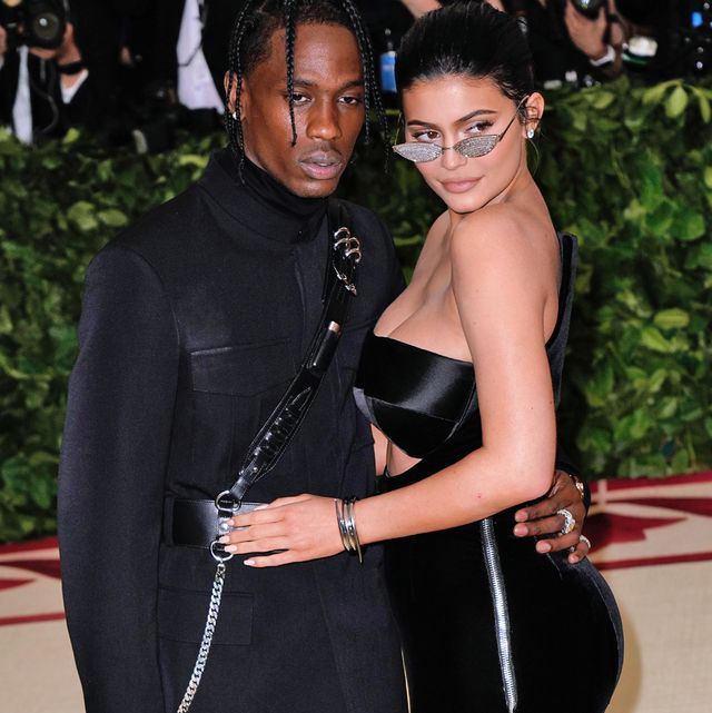 new york, ny   may 07  kylie jenner and travis scott attends heavenly bodies fashion  the catholic imagination costume institute gala at metropolitan museum of art on may 7, 2018 in new york city  photo by jackson leegetty images