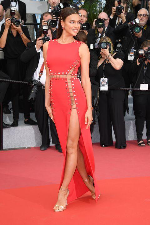 Irina Shayk Wears Versace Dress Without Underwear at Cannes Film ...