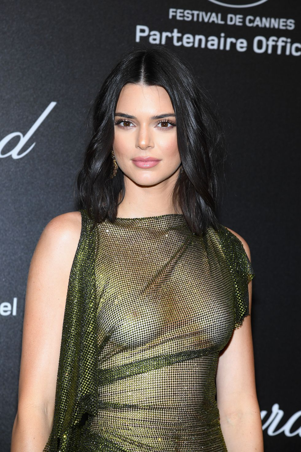 kendall jenner just freed the nips in a completely see-through dress