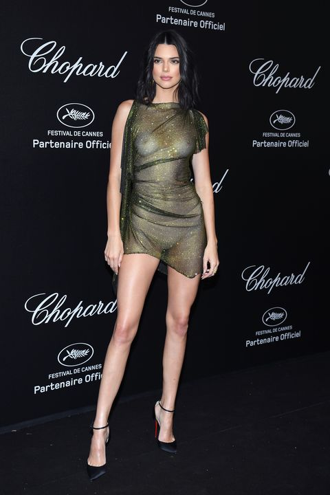 Kendall Jenner Wears A Completely See-Through Dress In Cannes-6736