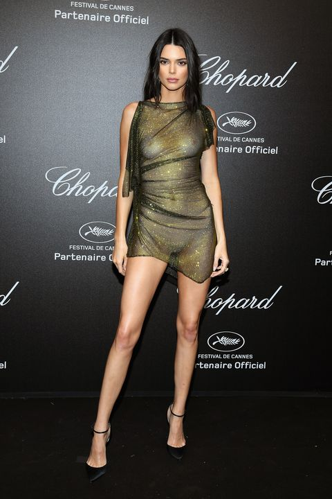 cannes, france   may 11 editors note this image contain nudity kendall jenner attends chopard secret night during the 71st annual cannes film festival at chateau de la croix des gardes on may 11, 2018 in cannes, france  photo by pascal le segretaingetty images for chopard