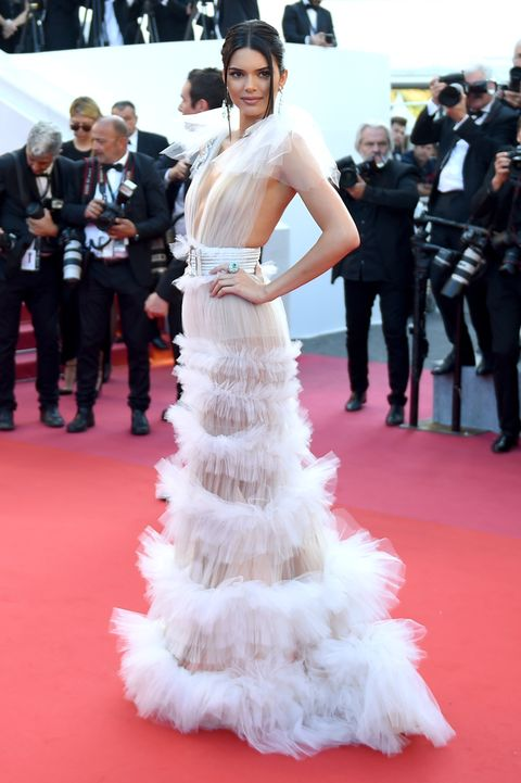 bf6821cbaa4 Kendall Jenner Wears Sheer Gown on Cannes Red Carpet - Kendall ...