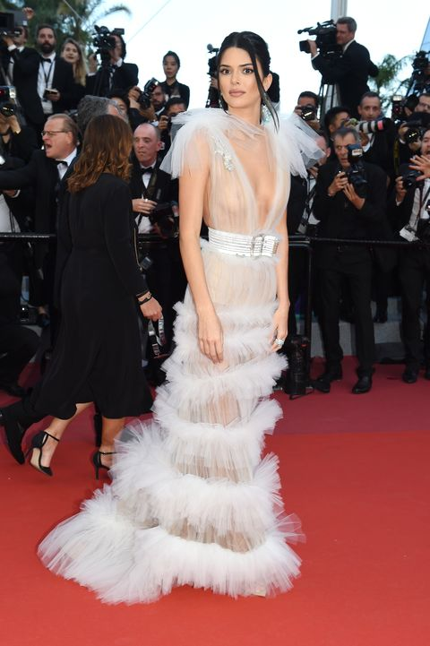 Kendall Jenner Wears Sheer Gown On Cannes Red Carpet - Kendall Jenner Wears Naked -1244
