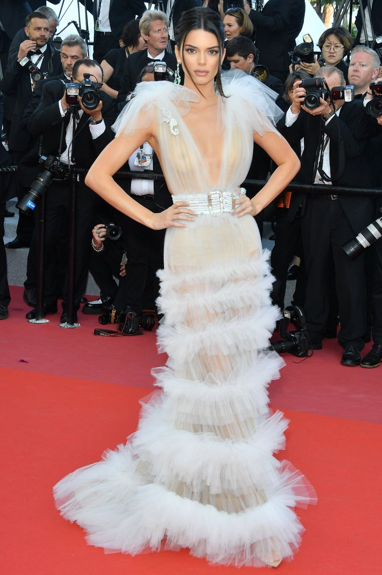 Kendal Jenner at the Cannes Film Festival red carpet 2018 dress