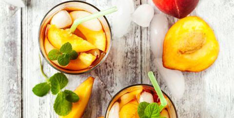 Food, Peach, Fruit, Ingredient, Drink, Fruit salad, Nectarines, Sangria, Dish, Cuisine,